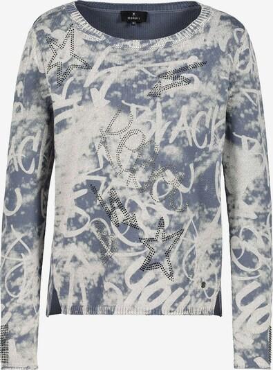 monari Pullover in rauchblau / weiß, Produktansicht