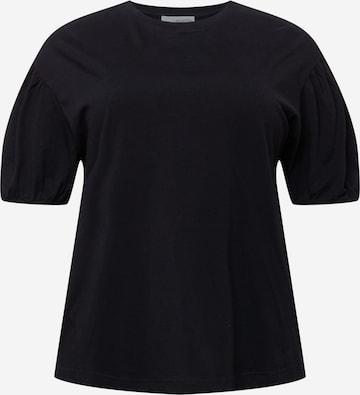 Selected Femme Curve Shirt 'MIV' in Zwart