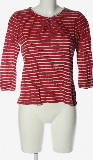 RALPH LAUREN Longsleeve in S in rot / weiß, Produktansicht