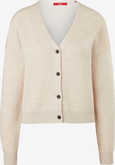 s.Oliver Knit cardigan in Kitt / White, Item view