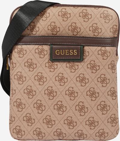 GUESS Tasche 'Vezzola' in kastanienbraun / hellbraun / schwarz, Produktansicht