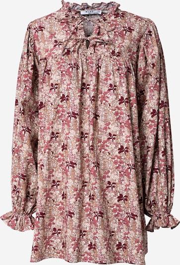NA-KD Kleid in creme / hellgelb / pink / weinrot, Produktansicht