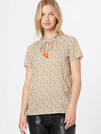 TAIFUN Bluse in mischfarben / weiß, Modelansicht