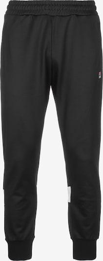 FILA Pantalon de sport 'Tahir Track' en noir / blanc, Vue avec produit