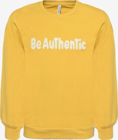 BLUE EFFECT Sweatshirt 'BE Authentic' in yellow / white, Item view