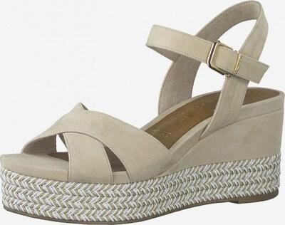 TAMARIS Sandaal in de kleur Beige / Groen / Zilver, Productweergave