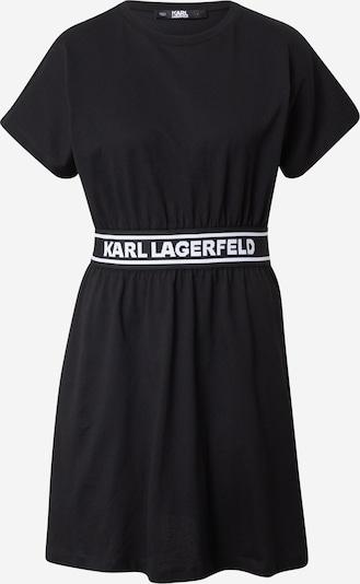 Karl Lagerfeld Рокля в черно / бяло: Изглед отпред