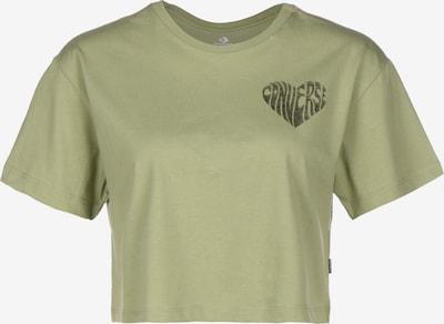 CONVERSE Cropped Damen T-Shirt  'Left Chest Heart' in hellgrün, Produktansicht