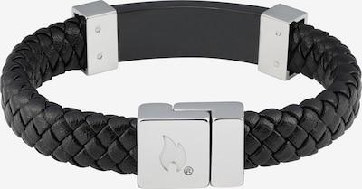 ZIPPO Armband Lederarmband schwarz mit Stahl in schwarz, Produktansicht