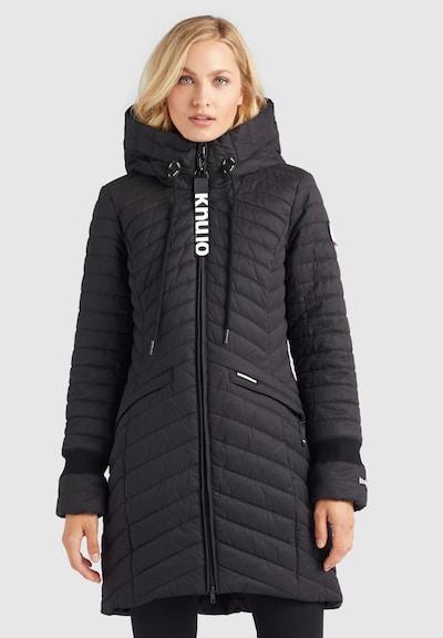khujo Wintermantel 'TOOTS2' in de kleur Zwart, Modelweergave