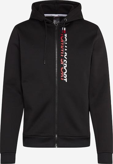 Tommy Sport Bluza rozpinana sportowa w kolorze czerwony / czarny / białym, Podgląd produktu