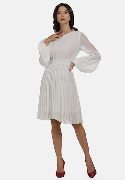 faina Abendkleid in weiß, Modelansicht