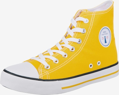 Inselhauptstadt Sneaker in gelb / weiß, Produktansicht