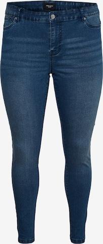 Vero Moda Curve Jeggings 'Ludy' in Blue
