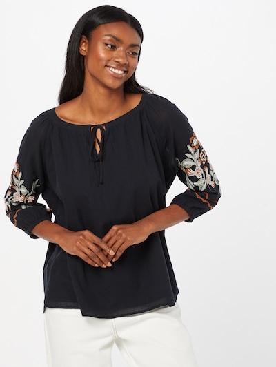 ESPRIT Bluse 'Gabby' in oliv / dunkelrot / schwarz / weiß, Modelansicht