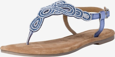 TAMARIS T-bar sandals in Blue / White, Item view