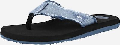QUIKSILVER Сандали с разделител за пръстите 'MONKEY ABYSS' в опушено синьо / гълъбово синьо / черно / бяло, Преглед на продукта