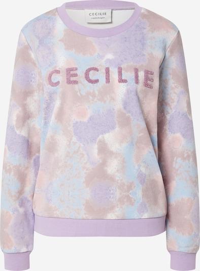 Cecilie Copenhagen Sweatshirt 'Manila' in hellblau / lila / mauve, Produktansicht