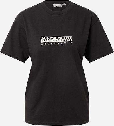 Tricou NAPAPIJRI pe negru / alb, Vizualizare produs