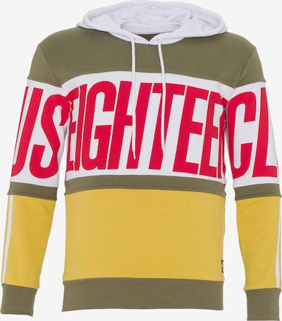 PLUS EIGHTEEN Sweatshirt in gelb / khaki / rot / weiß, Produktansicht