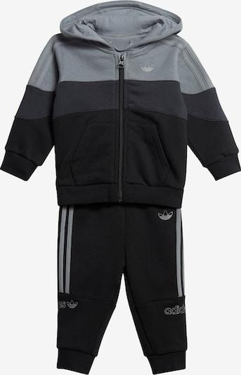 ADIDAS ORIGINALS Sportanzug in grau / schwarz, Produktansicht