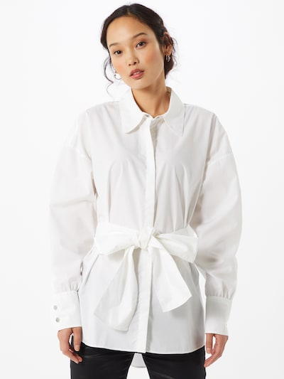 HUGO Blouse 'Eilish' in de kleur Zwart / Wit, Modelweergave