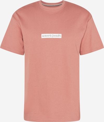 anerkjendt T-Shirt 'BOXY' en gris / rose ancienne / blanc, Vue avec produit