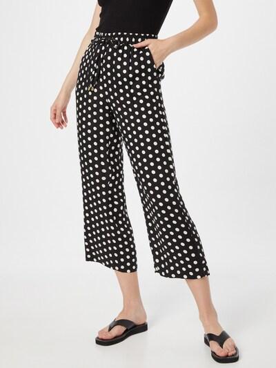 Kaffe Pants 'Barbara' in Black / White, View model
