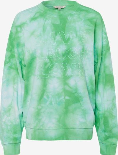 Herrlicher Sweatshirt in grün / weiß, Produktansicht