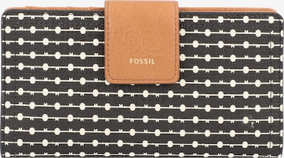 FOSSIL Geldbörse 'Logan' in braun / schwarz / weiß, Produktansicht