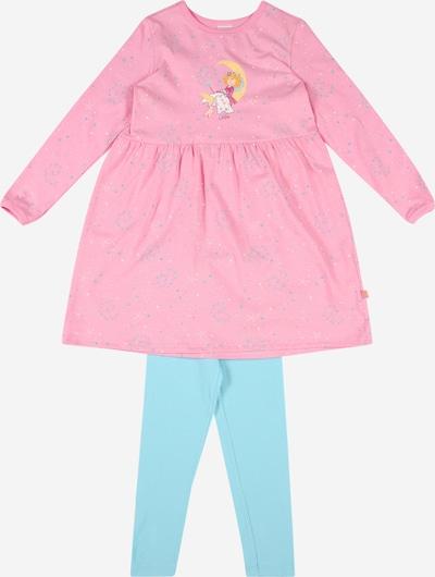 SCHIESSER Schlafanzug in türkis / gelb / rosa / weiß, Produktansicht