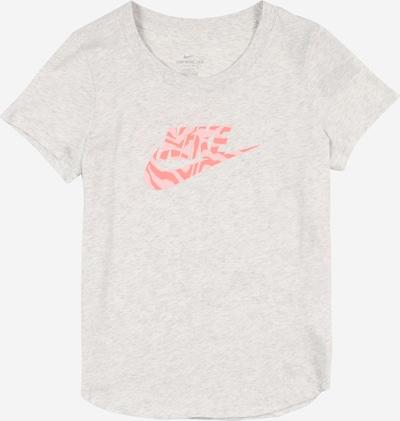 Nike Sportswear T-Shirt in graumeliert / pink / rosa, Produktansicht