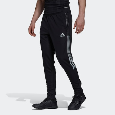 ADIDAS PERFORMANCE Sporthose 'Tiro' in schwarz / weiß: Frontalansicht