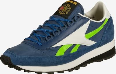 Reebok Classic Sneakers laag 'Aztec OG' in de kleur Navy / Neongroen / Wit: Vooraanzicht