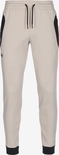 UNDER ARMOUR Pantalon de sport 'Recover' en mastic / noir, Vue avec produit