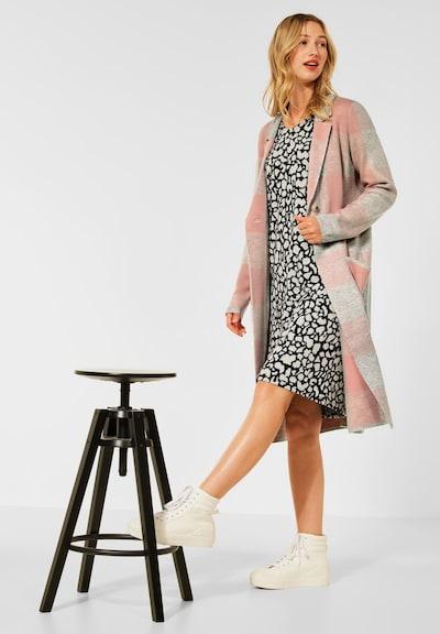 STREET ONE Between-Seasons Coat in Grey / Pink, View model