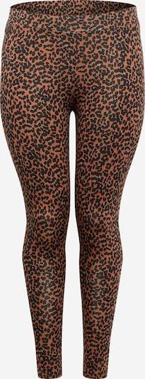 ONLY Carmakoma Leggings in de kleur Beige / Bruin / Zwart, Productweergave