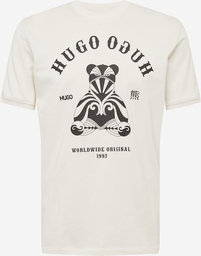 Maglietta 'Duto' HUGO di colore nero / bianco naturale, Visualizzazione prodotti