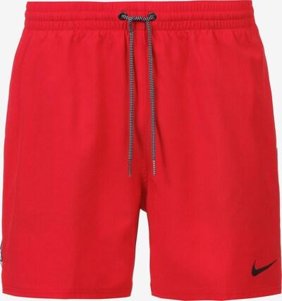 Nike Swim Sportbadehose in rot / schwarz / weiß, Produktansicht