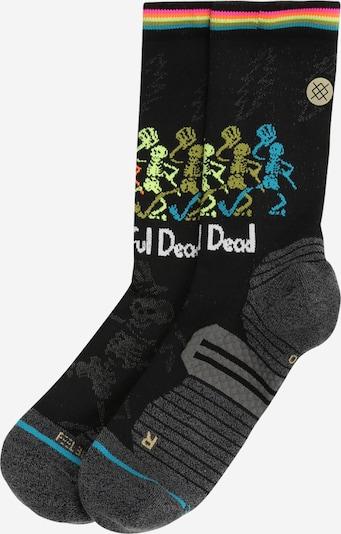 Stance Chaussettes de sport 'DANCING DEAD' en turquoise / kiwi / rose néon / noir / blanc, Vue avec produit