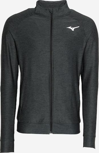 MIZUNO Sportjas in de kleur Zwart gemêleerd / Wit, Productweergave