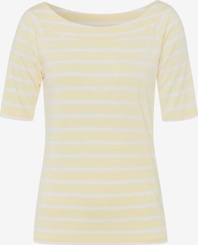 MORE & MORE T-Shirt in pastellgelb / weiß, Produktansicht