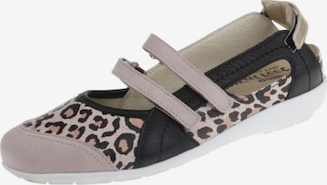 Natural Feet Ballet Flats with Strap 'Jackie' in Beige