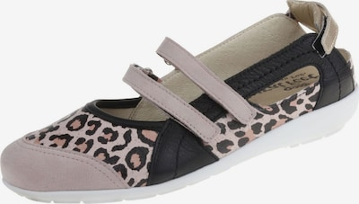 Natural Feet Ballet Flats with Strap 'Jackie' in Beige / Brown / Black, Item view