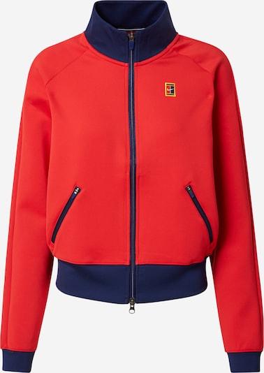 Bluză cu fermoar sport NIKE pe bleumarin / galben auriu / roșu deschis, Vizualizare produs