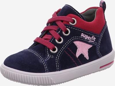 Pirmieji vaiko vaikščiojimo bateliai 'Moppy' iš SUPERFIT , spalva - mėlyna / rožių spalva / raudona, Prekių apžvalga