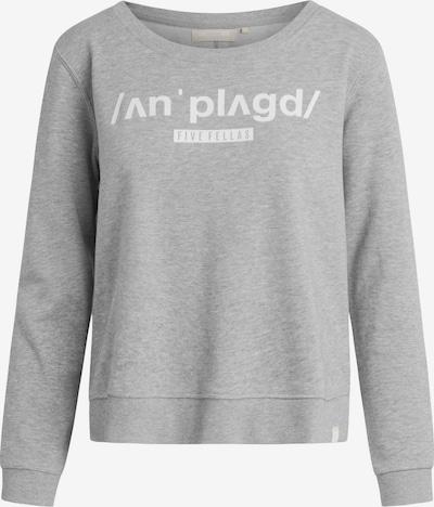 Five Fellas Sweatshirt 'Amber' in grau / weiß, Produktansicht