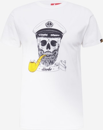 Derbe Shirt 'Spooky' in Weiß
