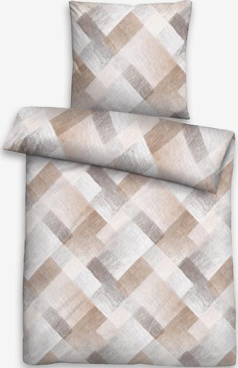 BIBERNA Bettbezug in braun / grau / weiß, Produktansicht