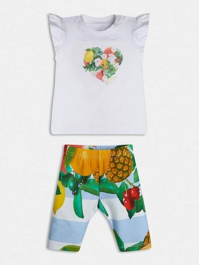 GUESS KIDS T-Shirt und Leggings Set in mischfarben / weiß, Produktansicht